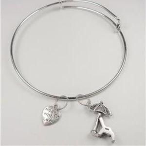 Jewelry - NAUTICAL SILVER TONE BEACH CHAIR & HEART BRACELET